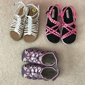 Other - EUC Lot of 3 prs of Girls sandals